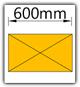 Kanban 1500x1230 mm schräg - Lagergut B=600mm