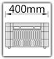 Kanban 1500x1230 mm gerade - CBL B=400mm