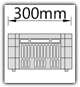 Kanban 1500x1230 mm schräg - CBL B=300mm