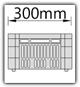 Kanban 1900x1230 mm gerade - CBL B=300mm