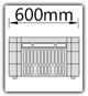 Kanban 1500x1230 mm gerade - CBL B=600mm