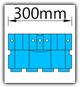 Kanban 1500x1230 mm gerade - KLT-VDA B=300mm