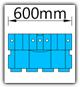 Kanban 1500x1230 mm gerade - KLT-VDA B=600mm
