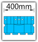 Kanban 1500x1230 mm schräg - KLT-VDA B=400mm