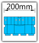 Kanban 1900x1230 mm schräg - KLT-VDA B=200mm