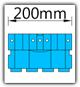 Kanban 1500x1230 mm gerade - KLT-VDA B=200mm