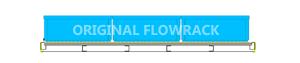 Standard Röllchenleiste für Durchlaufrahmen/GERADE T=1230 mm