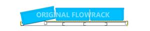 Standard Röllchenleiste für Durchlaufrahmen/SCHRÄG T=1230 mm