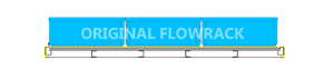 Heavy-duty Röllchenleiste Durchlaufrahmen/GERADE T=1230 mm
