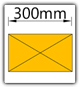 Kanban 1500x1230 mm gerade - Lagergut B=300mm