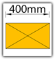 Kanban 1500x1230 mm schräg - Lagergut B=400mm