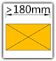 Kanban 1500x1230 mm schräg - Teppich, Lagergut B>180mm