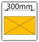 Kanban 1900x1230 mm gerade - Lagergut B=300mm