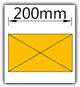 Kanban 1500x1230 mm gerade - Lagergut B=200mm