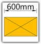 Kanban 1500x1230 mm gerade - Lagergut B=600mm